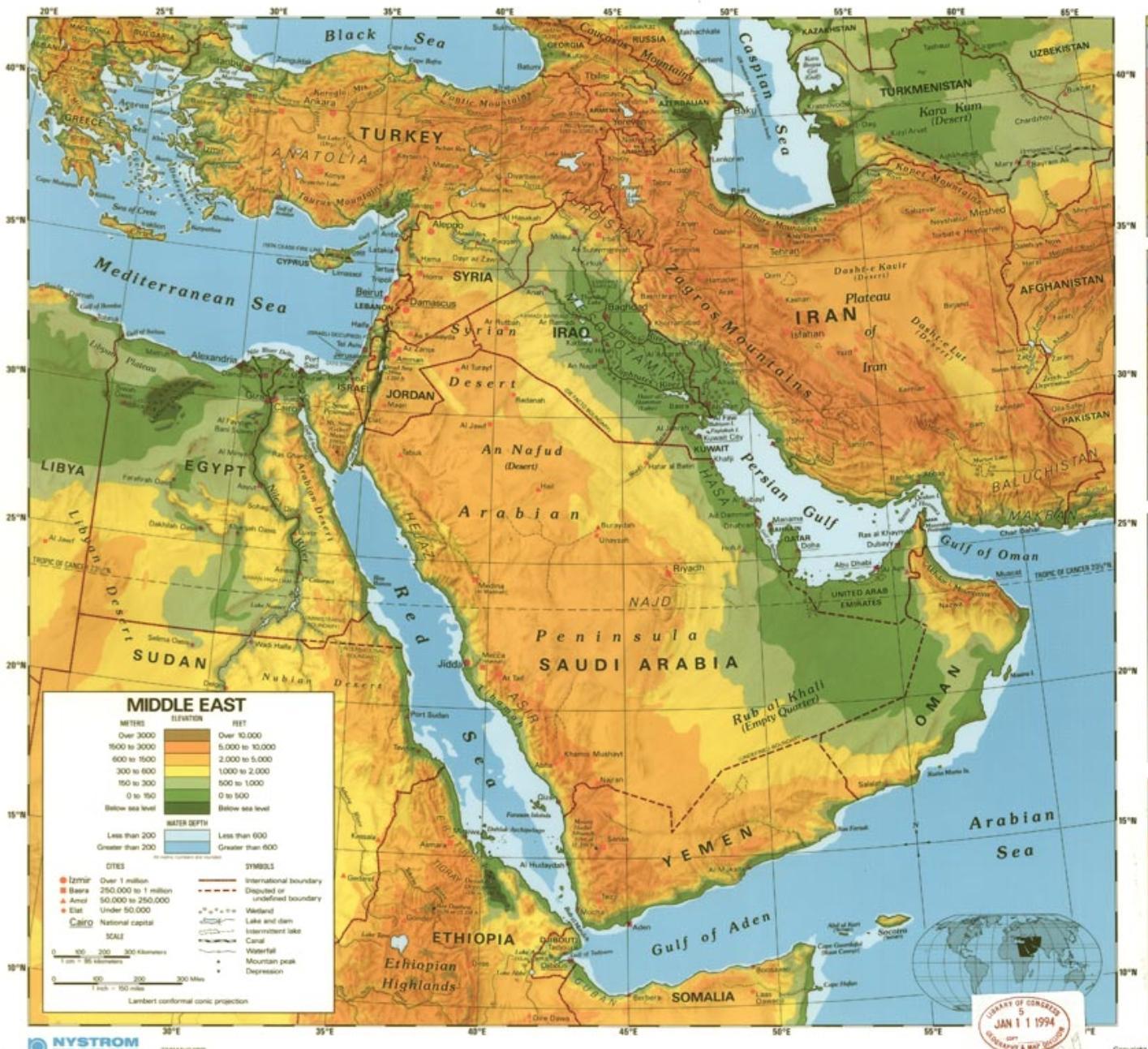 Saudska Arabie Poustni Mapa Mapa Saudske Arabii Pousti Zapadni